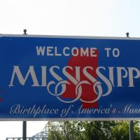 Vicksburg, Welcome to Mississippi Sign, Клейтон