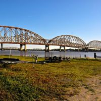 Old Allen-Long Bridge, Morgan City, LA, Морган-Сити