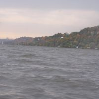 The Choppy Mississippi in Wind, October 2009, Мосс-Блуфф