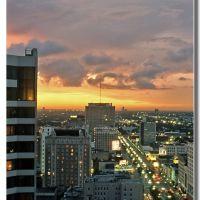 Sunset over down town, New Orleans (1991), Новый Орлеан