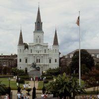 Church in Jackson Square,New Orleans, Luisiana, Новый Орлеан