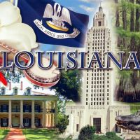 louisiana postcard, Олбани