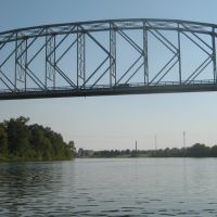 O.K. Allen Bridge over Red River near Lake Buhlow, Alexandria/Pineville, LA, Пайнвилл