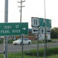 US 11, LA 41, LA 3081, Пирл Ривер