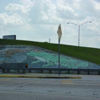 Frogland; painted freeway exit Rayne, LA, Рэйн