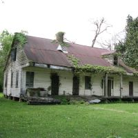 Richard House (1840) in Grand Coteau, LA, Сансет