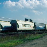 Covered Hoppers on a siding at Ayer, MA, Айер