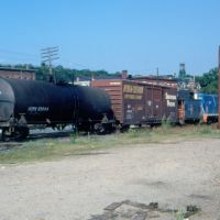 "Boston and Maine Railroad Local Freight Train ""WO-1"" led by EMD GP7 No. 1557 at Ayer, MA, Айер"