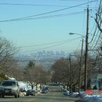 Boston skyline from Arlington Heights, Белмонт