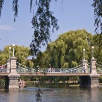 Suspension bridge in the Public Garden, Бостон