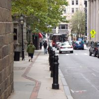 Boston - School street & materialization of the Freedom Trail, Вестон