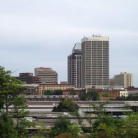 Downtown Springfield, MA from I-290, Ист-Лонгмидоу