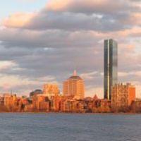 Bostons skyline over the Charles river (panorama), Кембридж