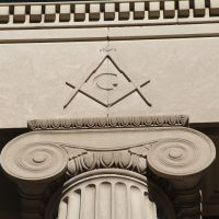 Masonic Temple Detail, Quincy MA (1926), Куинси