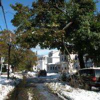 Church Street; Damage from Oct 2011 Freak Snow Storm, Леоминстер