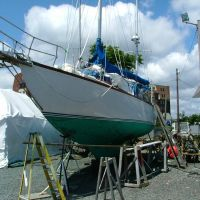 "Lynn,MA - Capt. John Perry ,Yachtsmen- Featured-Ted Hood Yacht Design ""1959 Yacht  in Wood "", Линн"
