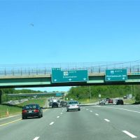 128 North and exit to I-95 North - Peabody, MA, Линнфилд