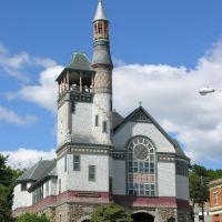 Marlborough First Baptist Church, 1887, Shingle Style Queen Anne, Марлборо