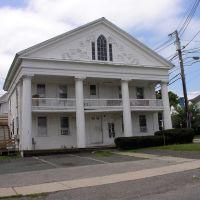 Flamboyant details on Greek Revival house, Pleasant Street, Marlborough, MA, Марлборо