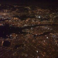 Looking Down Boston From Air plane, Милтон