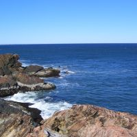 View of Ocean Off Rocks in Nahant, Нахант