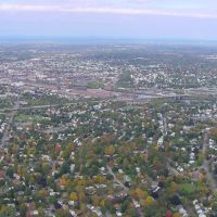 Aerial Looking At Lawrence, MA, Норт-Андовер