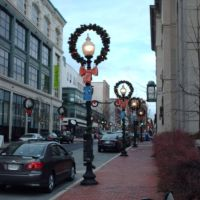 Purchase Street at Christmas Time, Нью-Бедфорд