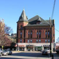 Newtonville Masonic Building, built 1896, Victorian Renaissance style, Ньютон