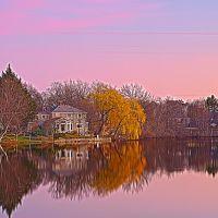 crystal lake sunset, Ньютон