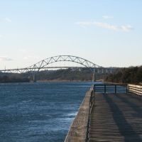 Sagamore Bridge from 	 Scusset Beach State Reservation, Сагамор