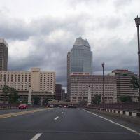 Dowtown Springfield, MA from Memorial Bridge, Спрингфилд