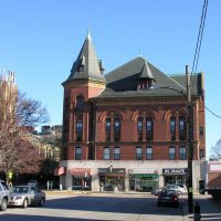 Newtonville Masonic Building, built 1896, Victorian Renaissance style, Уотертаун