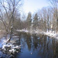 View of Sudbury River from Main St. Bridge on February 12, 2006, Фрамингам