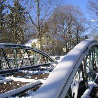 Main Street Bridge in Framingham, Mass, USA on February 12, 2006, Фрамингам