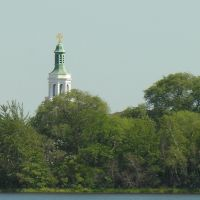 Downtown Framingham Steeple from Farm Pond, Фрамингам