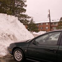 My Saturn vs. snow pile, Фрамингам