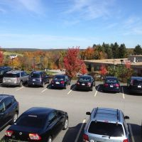 17) The top of the Wachusett Regional HS parking lot has a fairly nice fall view toward the mountain., Холден