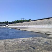 Holyoke Dam from South Hadley side of Connecticut River, Холиок