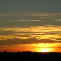 Oct 2007 - Minneapolis, Minnesota. Sunset over the western suburbs from an office building., Бруклин-Сентер