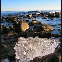 Ice on the shore of Lake Superior, Дулут