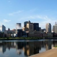 view of downtown saint paul from across the mississippi river, Сант-Пол