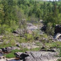 The Swinging Bridge from the Carlton Trail @ Jay Cooke State Park; 06/01/08, Сканлон