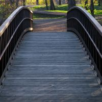 Bridge to Islands of Peace County Park, Fridley, Minnesota, Фридли