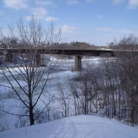 Railway bridge over the Mississippi River, Хиллтоп