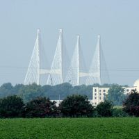 New bridge over the Mississippi at Greenville, MS, Гринвилл