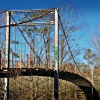 Byram Swinging Bridge - Built 1905, Еллисвилл