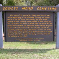 Cowles Mead Cemetery, Natchez Trace Parkway near Clinton, Mississippi, Клинтон