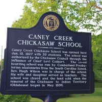 Caney Creek Chickasaw School Historic Marker, Коссут