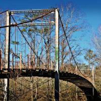 Byram Swinging Bridge - Built 1905, Лаурел