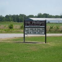 Church Sign along Mississippi/Arkansas Border, Лула